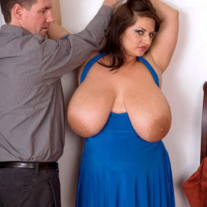 Buxom chick Maria Moore smothers man's face with huge knockers