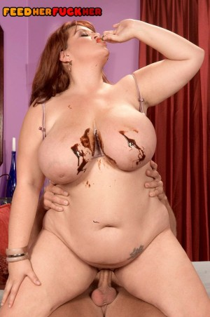Large chested BBW Jade Parker takes her food and fucking seriously