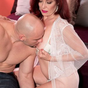 Over 50 MILF babe Dana Devereaux and a large cock get together for sex games