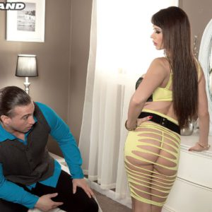 Buxom chick Eva Karera shows off her nice ass and big knockers