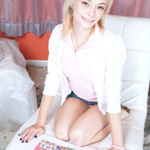 18 year old blonde teen Maddy Rose having tiny tits exposed