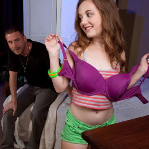 18 year old spinner Marissa Mae reveals tiny young girl boobs