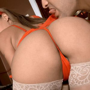 PAWG Star Armani having her juicy butt worshiped in white stockings and heels