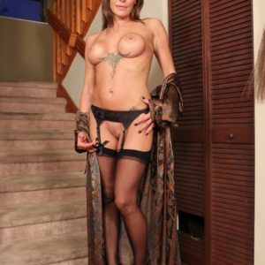 Long-legged light-haired gf Christine demeaning collared subby spouse in high heeled shoes