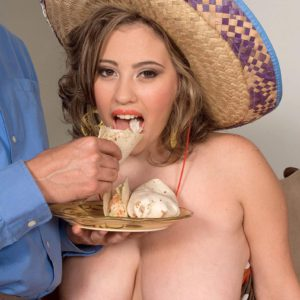 Mexican thick Selena Castro flaunting hefty natural breasts while getting titty screwed