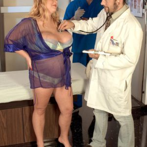 Preggie light-haired Sunshine flashing giant hooters while boinking doctor's huge junk