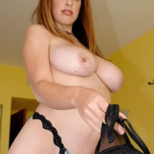 Solo female Brianna Bragg extracting enormous all-natural breasts from boulder-holder after jeans removal