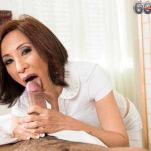 Lil' Japanese grandmother Kim Anh delivering huge knob hand job and BLOW JOB during rubdown