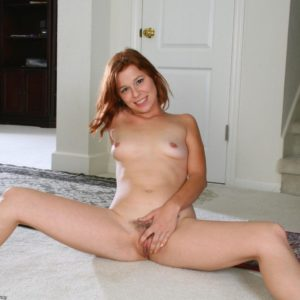 All natural redheaded first-timer showing off pointy boobs and tidily smoothly-shaven cootchie