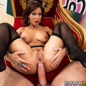 Busty MILF X-rated starlet Syren De Mer taking monster-sized wood in nasty ass slot after delivering BLOWJOB