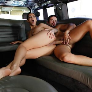 Dark-haired party female Samia Duarte offering up wonderful butt for hardcore ass-hole boinking
