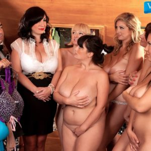MILF adult film star Valory Irene and gfs reveal gigantic boobs and bare butts together
