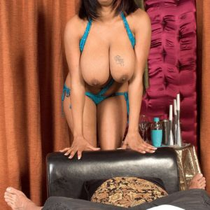 Round black dime Carmen Hayes touching enormous XXX film star tits and nip sucking