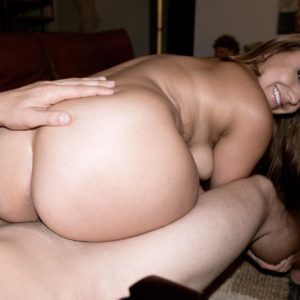 Big-titted girl Marie Jade having enormous ass liberated from shorts for doggie banging