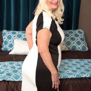Round 60 plus MILF Vikki Vaughn releasing overweight elderly gal butt and enormous tits