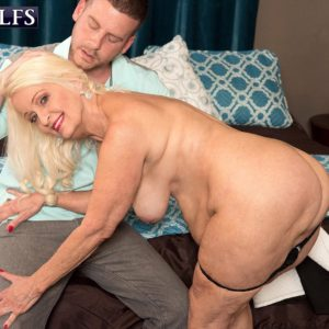 Round 60 plus MILF Vikki Vaughn releasing overweight elderly gal butt and enormous tits