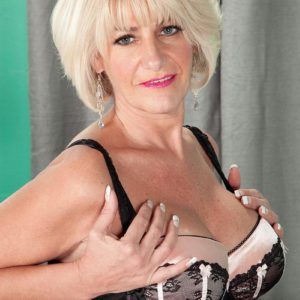 Seductive experienced doll Wish Collins seducing junior boy with immense dick in lingerie
