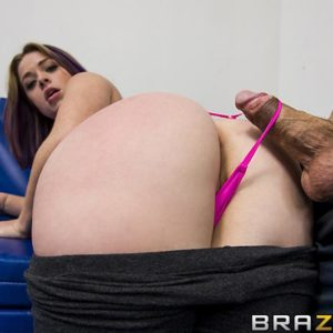 Uber-cute MILF X-rated film starlet Sierra Sanders having monster-sized booty freed for anal screwing from hefty boner