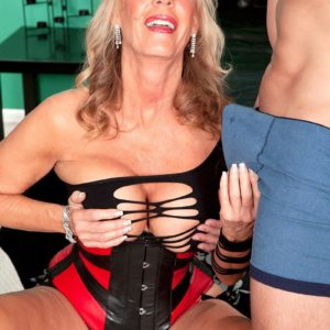 Wonderful grandma XXX adult star Phoenix Skye seducing sex from junior man in magnificent lingerie