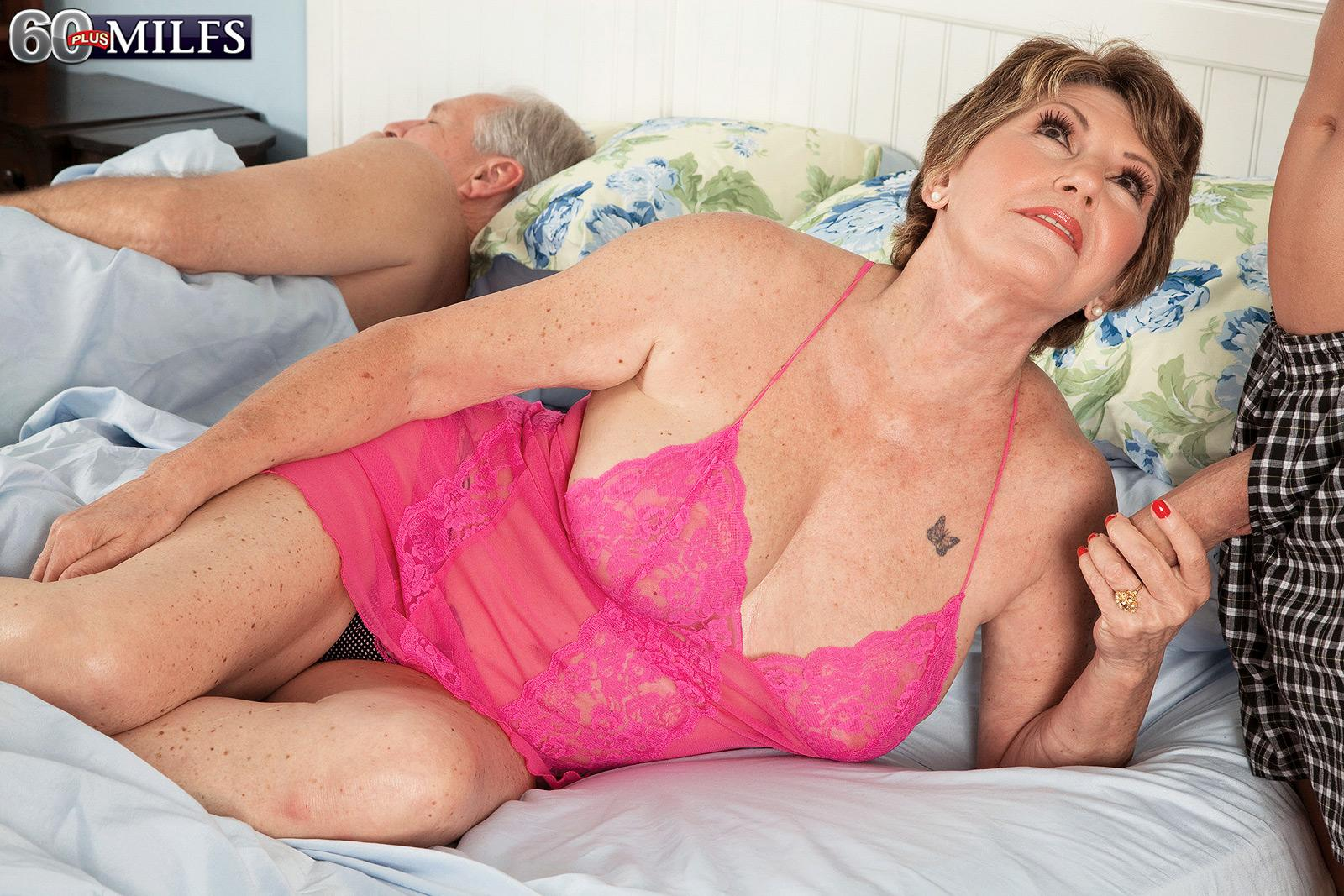 Big Titted Red Haired Grandma Bea Cummins Jerking Off Massive Boner While Cuck Spouse