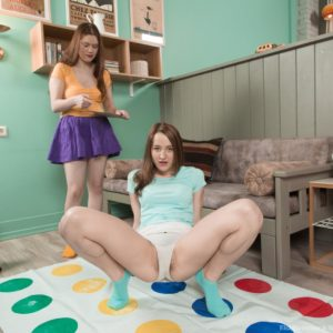 Wooly pornographic star Elsa Hanemer and sapphic wife toy and finger pussies in socks