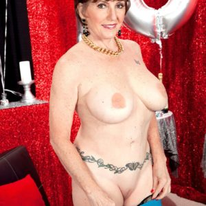 Seventy MILF Bea Cummins loosing monster-sized all natural experienced boobs on her bday