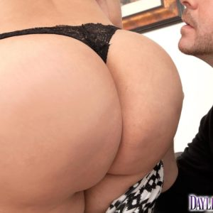 Latina girl Daylene Rio looses her large butt from a ripped microskirt