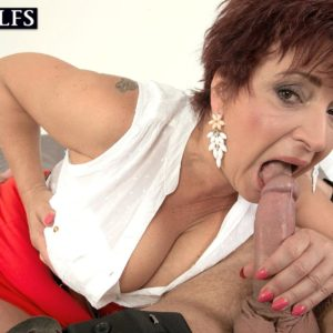 Older lady Jessica Phat lets her massive fun bags dangle while getting drilled by her boy toy