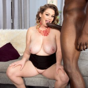 Plus sized female Harmony Milky seduces a ebony boy with her massive fun bags and humungous ass