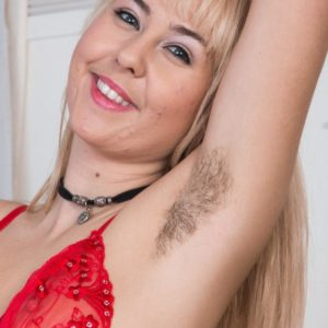 Uber-cute Euro sandy-haired Aali Rousseau uncovering fur covered rosy twat beneath panties