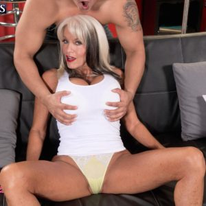 Lumbering Sixty plus MILF Sally D'Angelo extracting enormous older melons before draining sausage