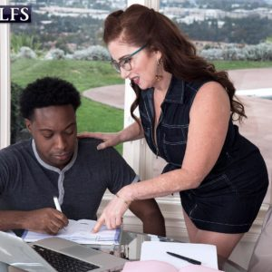 Over Sixty broad Maria Fawndeli seduces a junior ebony man while tutoring him