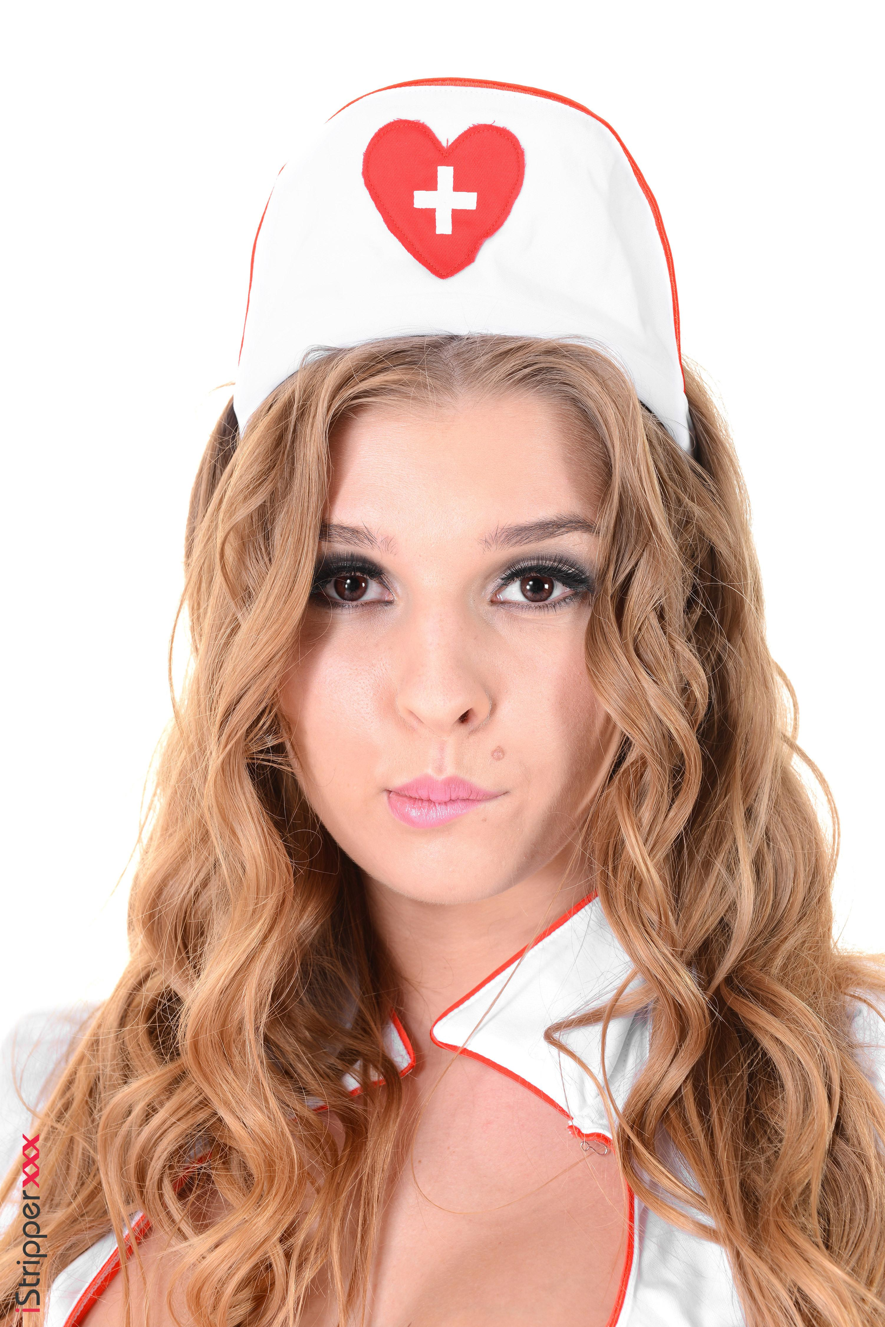 Solo model Alina N works herself loose from her nasty nurse unfiorm