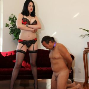 Female nude dominant commit