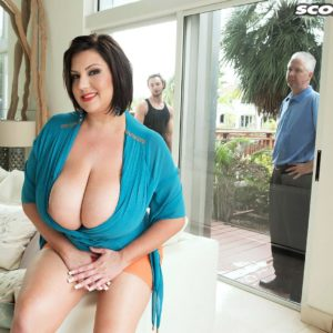 Chubber housewife Paige Turner tempts younger guy with immense fun bags to cuck hubby's dismay