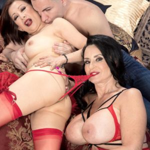 Stellar old femmes Rita Daniels and Kim Anh have a three way with younger man