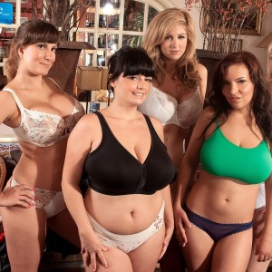 MILF pornstar Valory Irene and gfs expose enormous titties and bare butts together