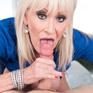 Wild Sixty plus MILF Leah L'Amour entices a younger stud in the sauna before providing a ORAL PLEASURE